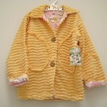 CHENILLE jacket PRETTY girls LINED coat