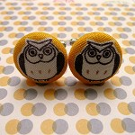 Retro owl cufflinks