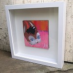 Bunny - original collage - framed artwork