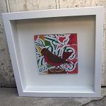 Robin - original collage - framed artwork