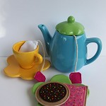 handmade felt tea-4-two set
