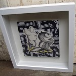Cranky critters - original collage - framed artwork
