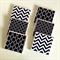 Black & White Coasters: 6 Ceramic Tile Drink Coasters Chevron Chainlink Moroccan