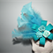 Blue Horizon SALE autumn winter headpiece felt teal turquoise gold blue comb