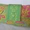 Sari Blooms on Moss Green - Medium Nappy Wallet