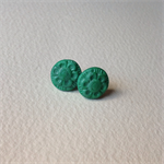 Tiny emerald green flower studs
