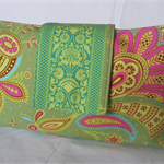 Sari Blooms on Moss Green - Medium Nappy Wallet