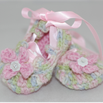 Baby Shoes, 0 to 6 months, Crochet, Ballet Shoes, Booties