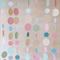 Paper Dot Confetti Circle Garland Pastels & Metallic Decorations, Baby Shower