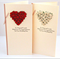 wedding card for money or voucher ivory