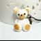 Gold Teddy key phone ring / charm