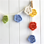 Pastel Flowers - crochet garland, pretty nursery decor, bunting
