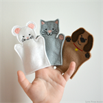 Dog Cat and Mouse Finger Puppets