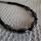 Futuristic..  SALE metallic Hematite  Swarovski Crystal black necklace