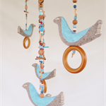 FLOCK OF BIRDS MOBILE in SOFT BLUE