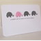 Handmade Baby Card - Elephants - Pink