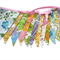 Vintage Retro Multi-Colour Rainbow Floral Flag Bunting. Party, Home Decoration