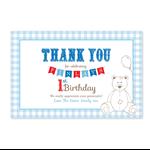 Printable Birthday Thank you Card - Teddy Bear's Picnic