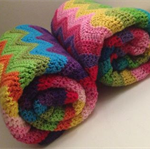 Rainbow Crochet Baby Blanket - Made to Order