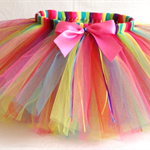 Little Girls Handmade Rainbow Tutu. Perfect for your little ballerina or fairy.