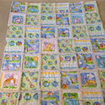 Gingham Safari Blue/Green Ragged Quilt