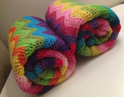Rainbow Crochet Baby Blanket Made To Order Cuts With Kylie