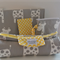Giraffe Nappy Wallet Nappy Mat and Dummy Pouch with Yellow Dots
