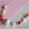 Baroque pearl, fresh water pearl, mother of pearl, and crackle agate necklace