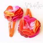 Surprise me! Bright So Bright. Set of 2 Hair Pins / Snap clips.