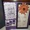 Vintage Lady You're Special & Fleur de Lis Mothers day  handmade purple large