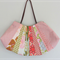 Patchwork Fan-Shaped Tote Handbag