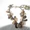 Flora & Fauna. SALE charm bracelet Birdcage Mother of Pearl  bracelet bangle
