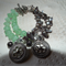 Seafoam Waters..SALE blister grey Pearls green charms bracelet