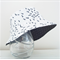 Boys summer hat in funky ants fabric