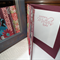 Chic Lady & LOVE.Mothers day card handmade sparkly maroon large