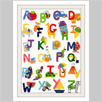 Alphabet Print, Art prints for kids, Nursery wall art, Kids bedroom decor