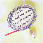 Miss Dashwood Brooch Bouquet Pin Sense and Sensibility Jane Austen Silver Latte