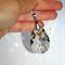 Swarovski huge Silver Shadow crystal chandelier long sterling silver necklace
