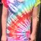 ON SALE Rainbow Side Spiral Tie Dye T-Shirt - Size 10 Girls