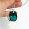 Swarovski Emerald green crystal large Graphic pendant sterling silver necklace