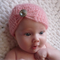 Newborn Vintage Beanie with Jewel / Mohair /  Photography Prop / Free Post