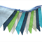 Denim Blue, Aqua and Stripe BOYS Bunting. Party,  Banner Decoration