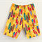 Sizes 5-10 Bright Yellow Surfboards Hawaiian Print Boys Shorts