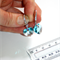 Austrian Swarovski Light Turquoise heart crystal silver pave drop earrings