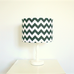 Black + white chevron print fabric lampshade, home decor