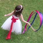 3 decorated twirling wand party favours - pink, purple and/or blue.