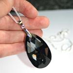 Swarovski huge silver night crystal chandelier long sterling silver necklace