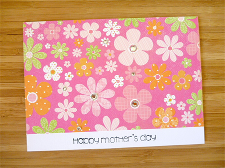 Mothers Day card - flowers with a bit of sparkle!