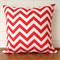 Outdoor Cushion Cover - Red and White Chevron