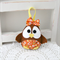 Easter baby chick decoration, orange, flowers